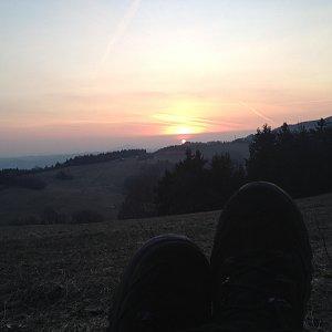 Iveta Válová na vrcholu Javorník (22.3.2019 18:13)