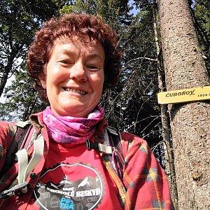 Anna na vrcholu Čuboňov (3.8.2019 8:17)