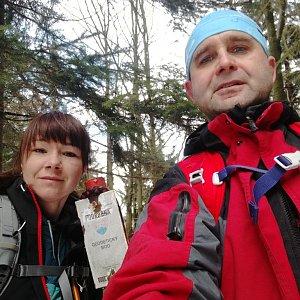 Brůča&Bubu na vrcholu Čuboňov (10.3.2018)