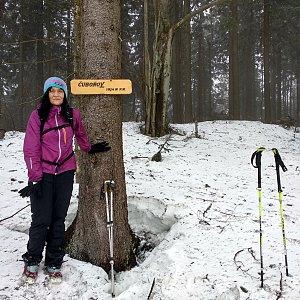 Jana Mayerová na vrcholu Čuboňov (10.3.2019 15:37)