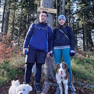 Markéta Čeníková na vrcholu Čuboňov (24.11.2019 12:22)