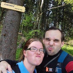 Martina na vrcholu Čuboňov (8.5.2018)