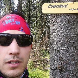 Ondřej Sikora na vrcholu Čuboňov (29.4.2018 11:57)
