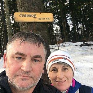 V+R na vrcholu Čuboňov (1.2.2020 11:55)