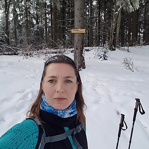 Marcela Kubíčková na vrcholu Čuboňov (15.2.2020 11:25)