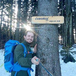 Bartek_na_cestach na vrcholu Čuboňov (24.2.2020 15:18)