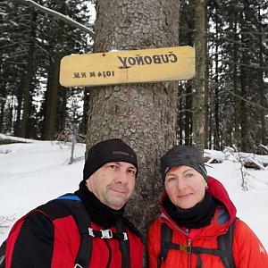 Dana + jirka na vrcholu Čuboňov (22.2.2020 13:02)