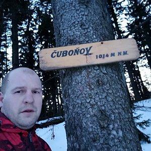 Petr Petrik na vrcholu Čuboňov (2.3.2020 17:52)