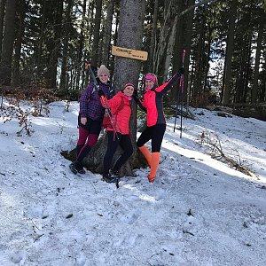 Kateřina Turčeková na vrcholu Čuboňov (14.3.2020 15:00)