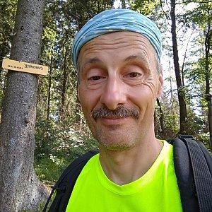 Jiří Sumbal na vrcholu Čuboňov (13.8.2018 11:59)