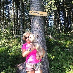 Magda na vrcholu Čuboňov (22.8.2020 10:32)