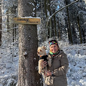 Magda na vrcholu Čuboňov (10.1.2021 11:32)