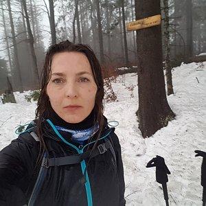 Marcela Kubíčková na vrcholu Čuboňov (23.1.2021 10:00)