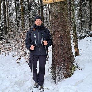 Jiří Gryz na vrcholu Čuboňov (24.1.2021 11:46)