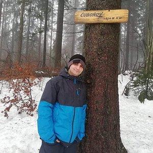 Luki Kraus na vrcholu Čuboňov (23.1.2021 14:00)