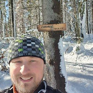 Igor Gluza na vrcholu Čuboňov (20.2.2021 11:20)