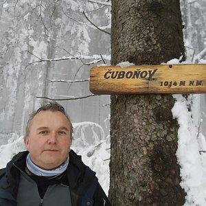 Michael na vrcholu Čuboňov (19.2.2021 15:25)