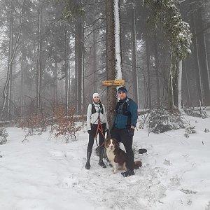 Markéta Čeníková na vrcholu Čuboňov (27.2.2021 13:45)