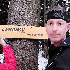 I+L Rajnochovi na vrcholu Čuboňov (9.3.2019 12:14)