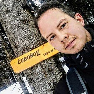 Jan Rendl na vrcholu Čuboňov (9.3.2019 15:00)