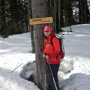 dana na vrcholu Čuboňov (17.3.2019 12:30)