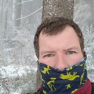 Michal Krčmář na vrcholu Čuboňov (13.4.2019 13:47)