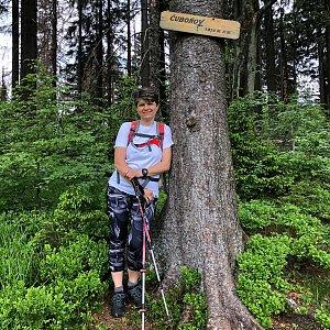 Radka Dubská na vrcholu Čuboňov (12.6.2021 13:39)