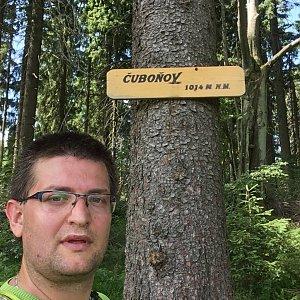 Radim Škrabánek na vrcholu Čuboňov (6.7.2019 11:59)