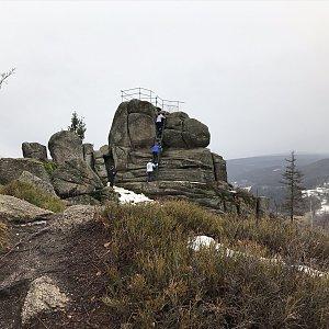 Martin Matějka na vrcholu Špičák (2.2.2020 14:33)