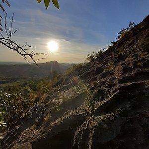 Miloš na vrcholu Bořeň (1.10.2021 17:26)