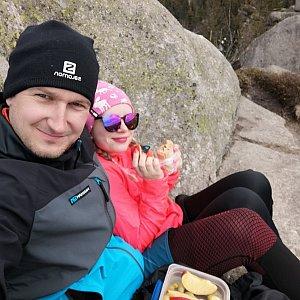 Jiří Tomaštík na vrcholu Pytlácké kameny (24.4.2021 14:12)