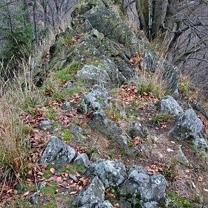 Jarda Vála na vrcholu Chřibský vrch (3.11.2017 17:05)