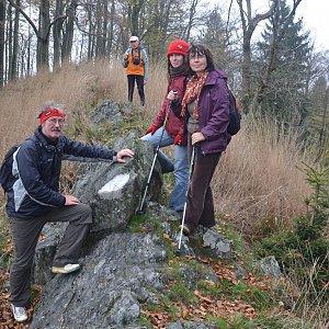 Jarda Vála na vrcholu Chřibský vrch (26.10.2014 15:49)