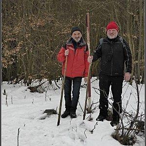 Pavel Martínek na vrcholu Zelený vrch (22.2.2015 12:49)