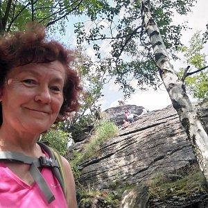 Anna na vrcholu Tři kameny (24.7.2021)