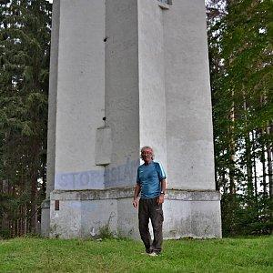 Jarda Vála na vrcholu Melechov (31.8.2020)
