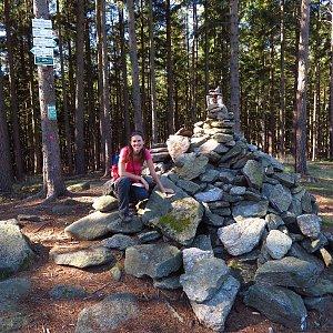 Iveta Válová na vrcholu Melechov (4.10.2020)