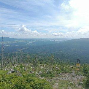 Jaroslav Hrabuška na vrcholu Nad Rakouskou cestou (5.7.2021 11:20)