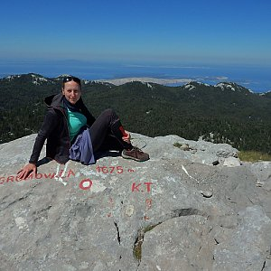 Manjula na vrcholu Gromovača (6.7.2020 11:27)
