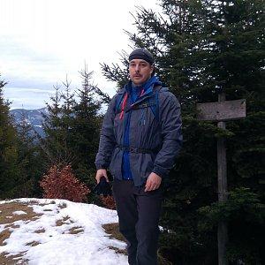 Petr Kowolowski na vrcholu Malá Stolová (5.1.2018 15:37)