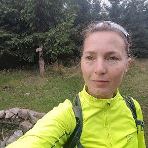 Marcela Kubíčková na vrcholu Malá Stolová (28.9.2019 9:12)
