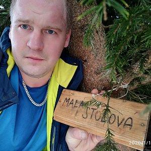 Petr Petrik na vrcholu Malá Stolová (16.1.2020 15:20)