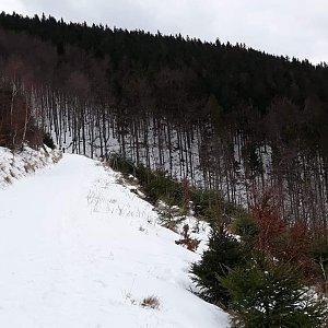 Lenka na vrcholu Malá Stolová (14.2.2020 14:00)