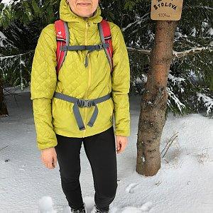 Radka Dubská na vrcholu Malá Stolová (22.2.2020 7:58)