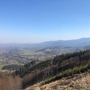 Barbora Pelcová na vrcholu Malá Stolová (6.4.2020 10:50)