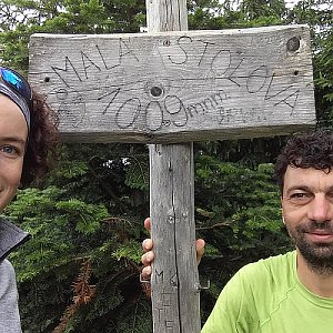 Babunka159 na vrcholu Malá Stolová (18.6.2018 11:30)