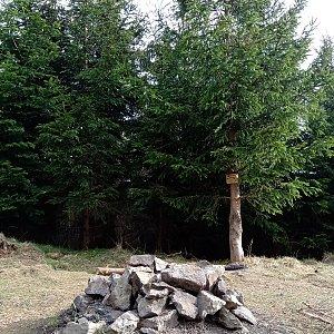 Iva Purmenská na vrcholu Malá Stolová (26.4.2020 17:05)