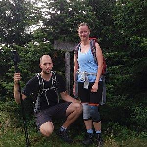 Paja&Tom na vrcholu Malá Stolová (15.7.2018 8:51)