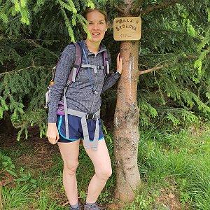 Hana Lančová na vrcholu Malá Stolová (30.6.2020 13:16)
