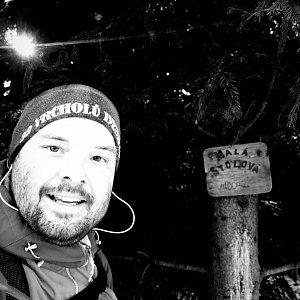 Jakub Špaček na vrcholu Malá Stolová (31.12.2020 12:47)